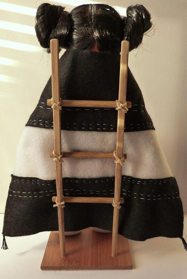 Hopi Sculpture - Hopi Maiden Back View by Lucy Deane