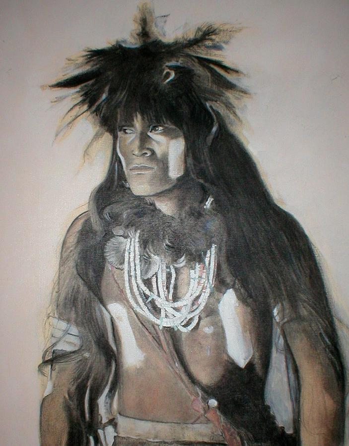 Hopi Painting - Hopi Snake Priest by Terri Ana Stokes