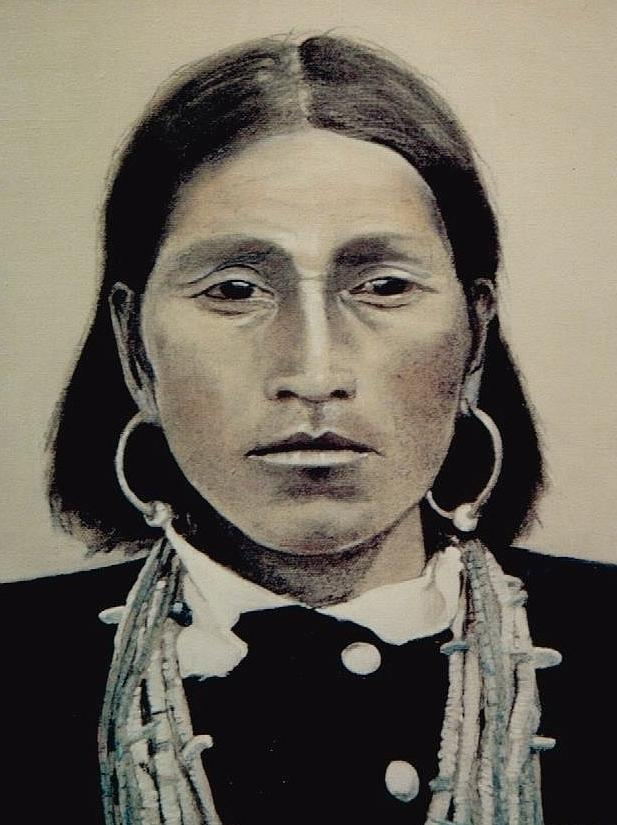 Hopi Painting - Hopi Woman Of The First Light by Terri Ana Stokes