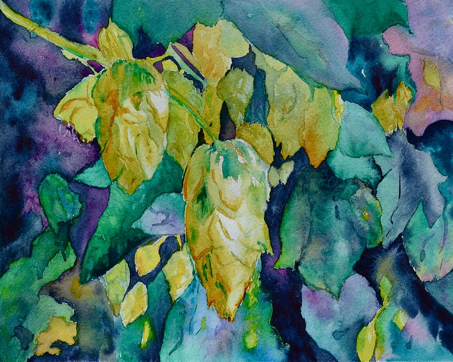Hops Painting - Hops by Beverley Harper Tinsley