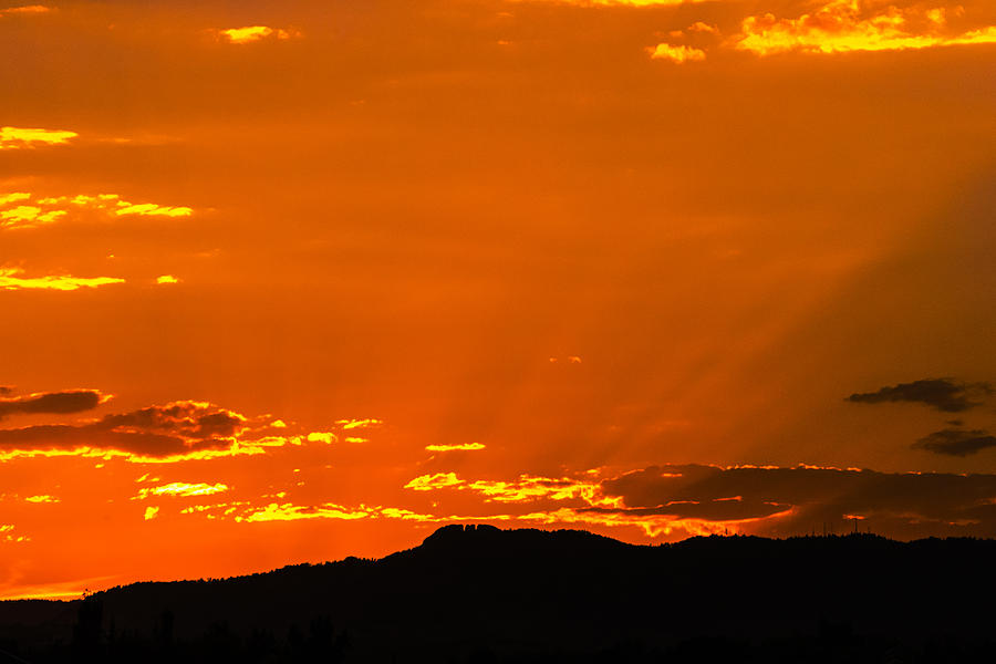 Horsetooth Rock Photograph - Horetooth Rock At Sunset by Rebecca Adams