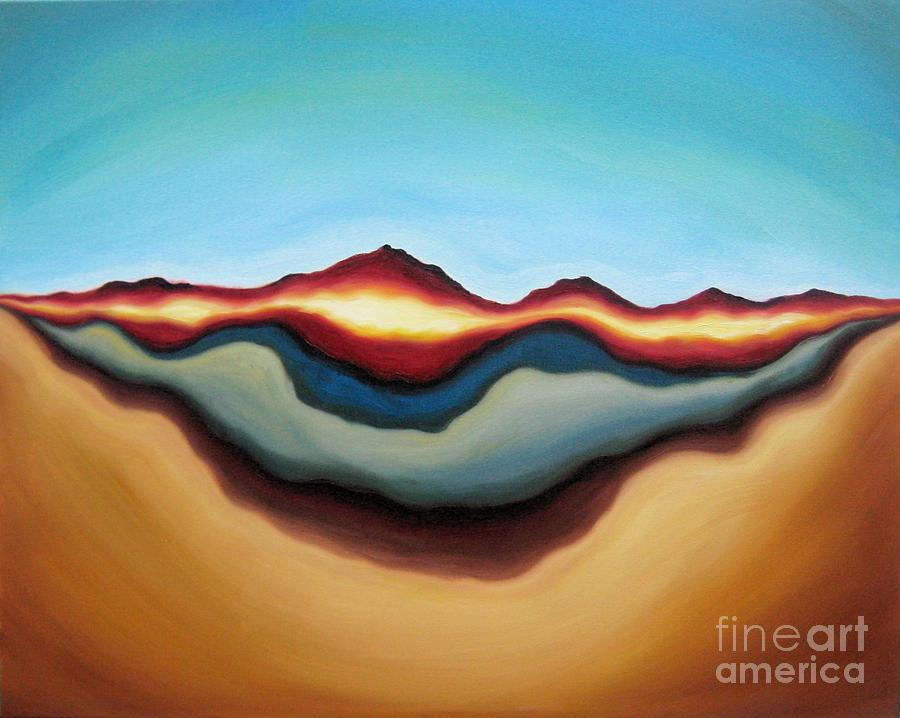 Abstract Expressionist Painting - Horizon Of Ages by Tiffany Davis-Rustam