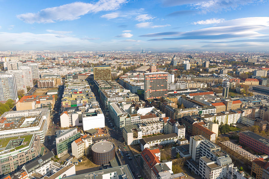 Horizontal Aerial View Of Berlin Photograph By Semmick Photo