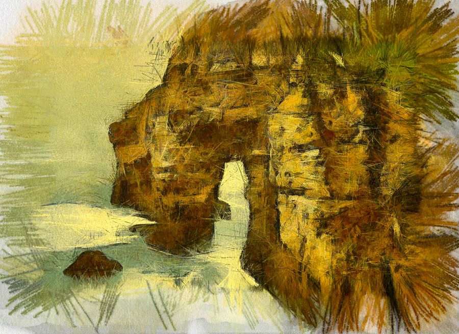Ireland Digital Art - Horn Head Temple Arch by Unknown