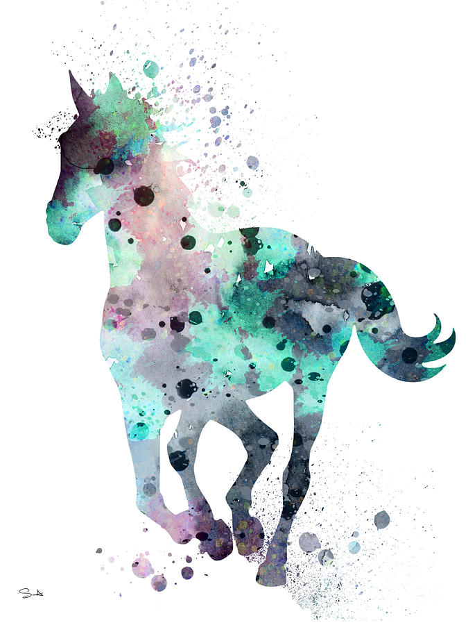 Horse 7 Painting By Watercolor Girl