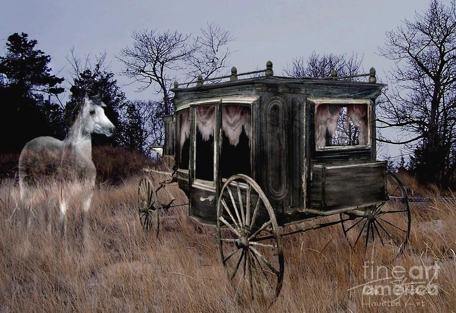 Ghost Photograph - Horse And Carriage by Tom Straub