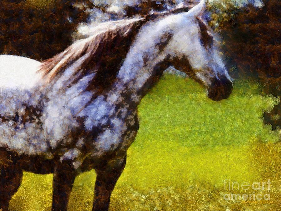 Horse Photograph - Horse And I Will Wait For You by Janine Riley