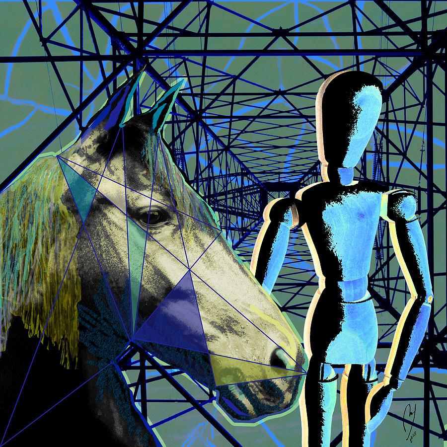 Maraia Digital Art - Horse And Rider by Maria Jesus Hernandez
