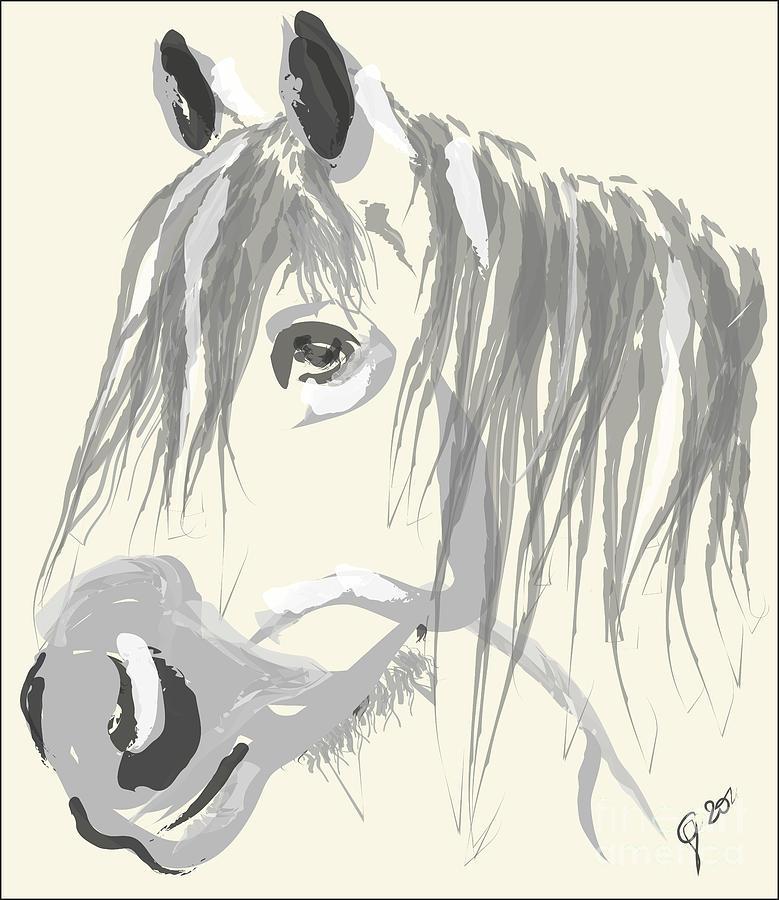Big Horse Painting - Horse- Big Jack by Go Van Kampen