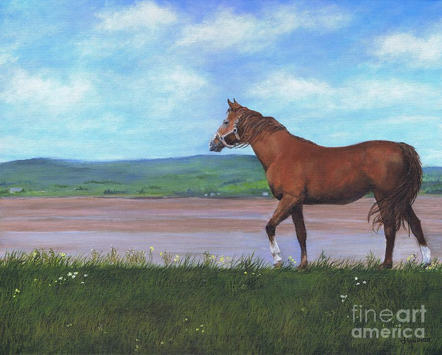 Horse Painting - Horse By The Bay by Janice Guinan