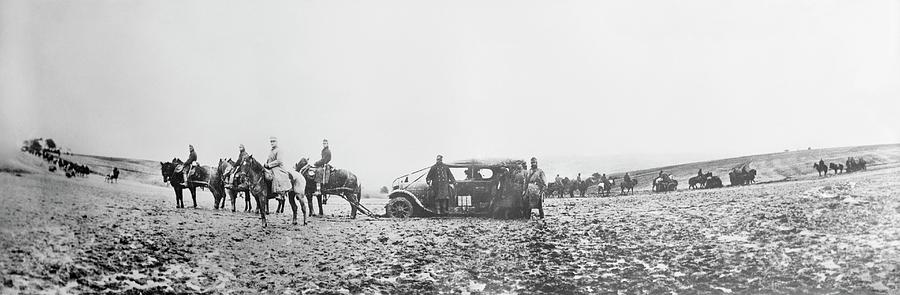 Animal Photograph - Horse-drawn Car by Library Of Congress