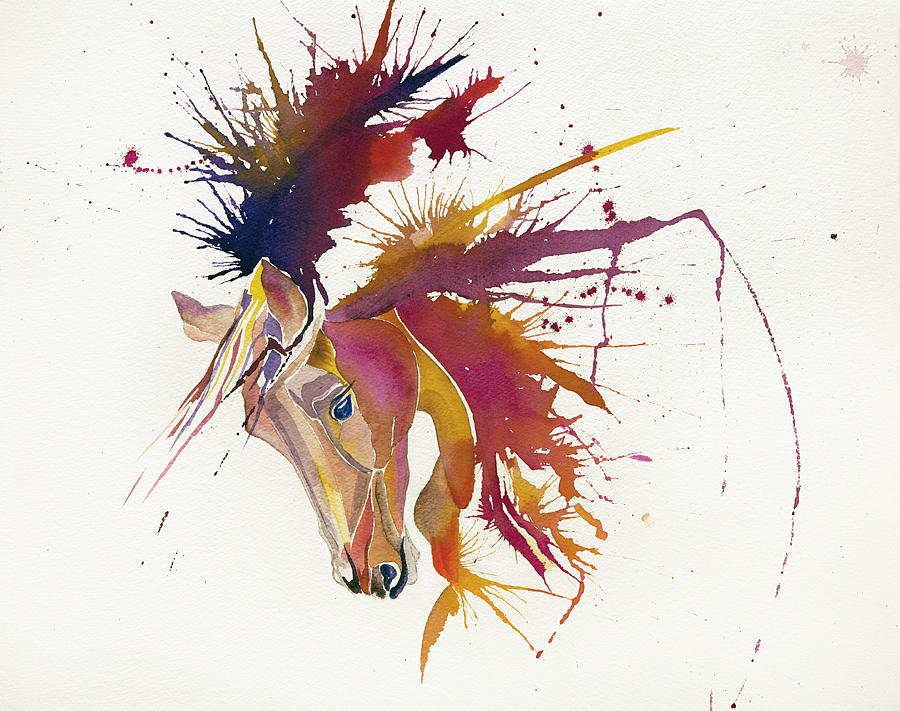 Horse Painting - Horse by Elena Mahoney