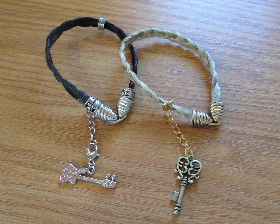 Bracelets Photograph - Horse Hair Bracelets by Rosalie Klidies