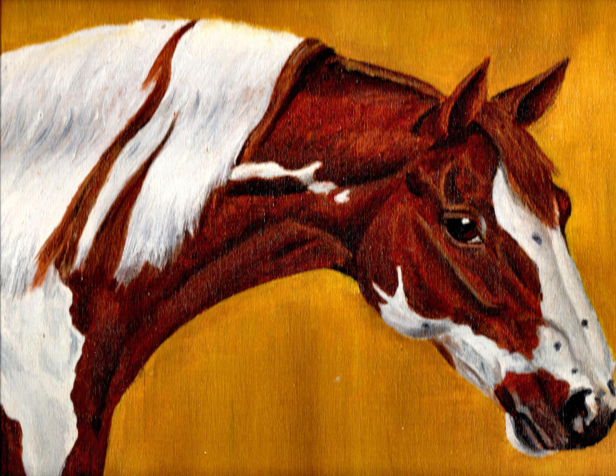Nature Painting - Horse Head Study by Joy Reese