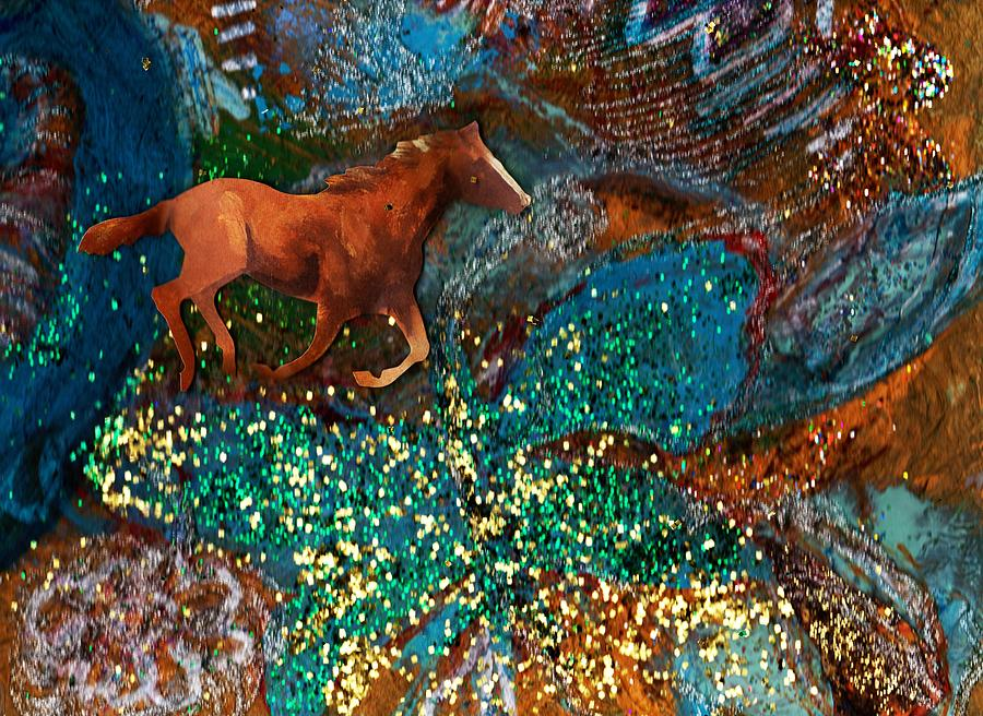 Horse Painting - Horse In Fantasy Land by Anne-Elizabeth Whiteway
