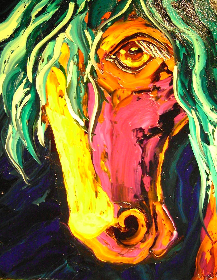 Isabelle Painting - Horse by Isabelle Gervais
