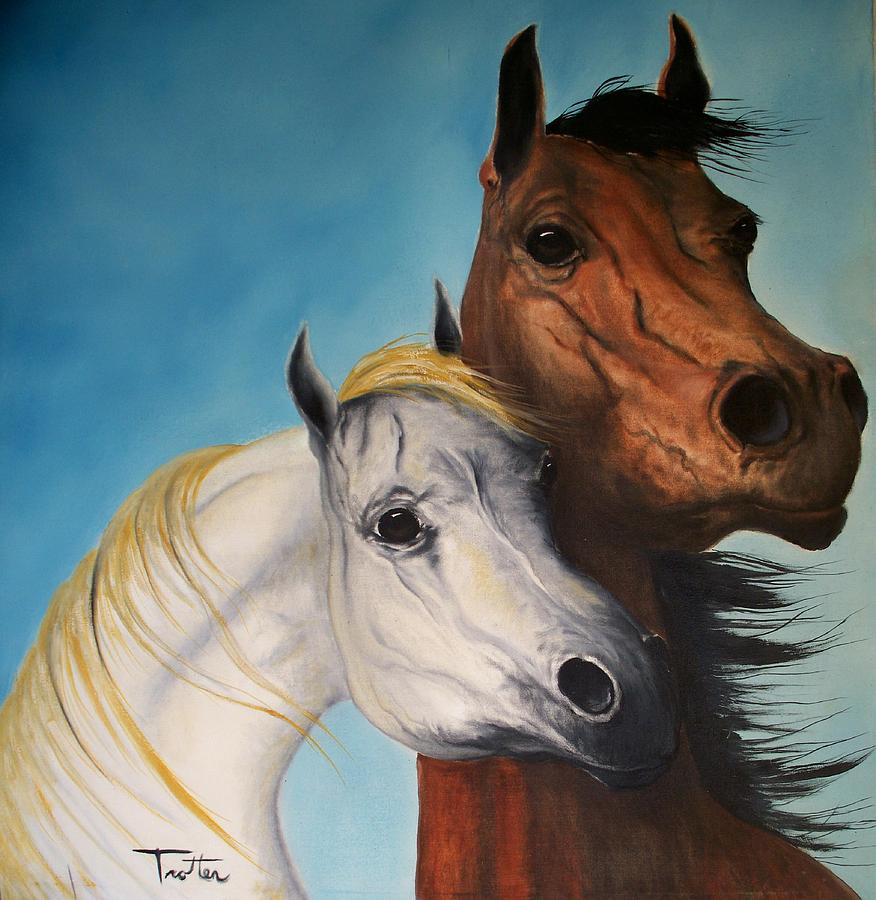 Horse Painting - Horse Lovers by Patrick Trotter