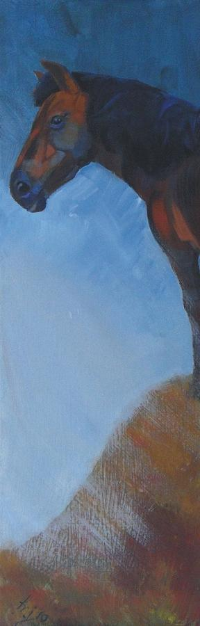 Moody Painting - Horse by Mike Jory