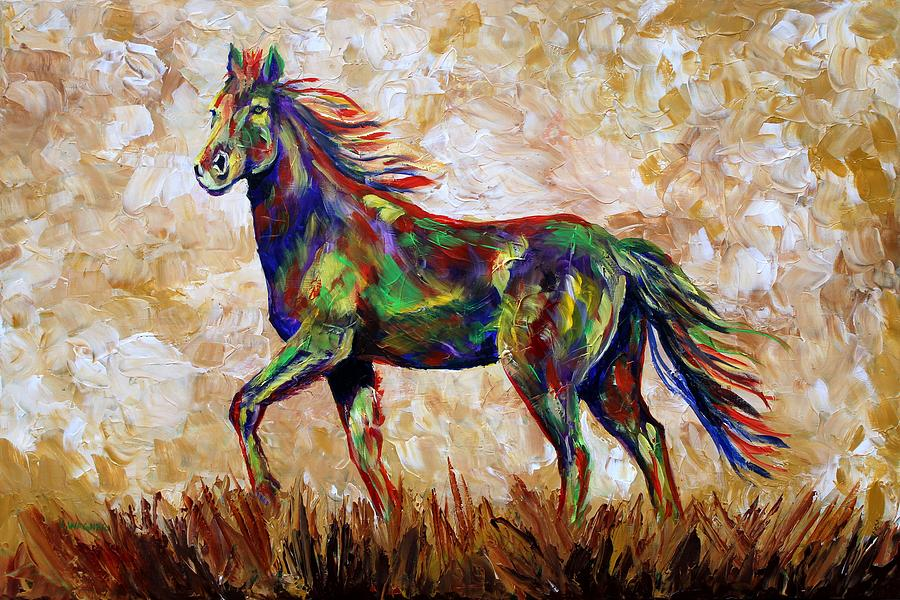 Horse of a different color painting by karl wagner for Different paint colors