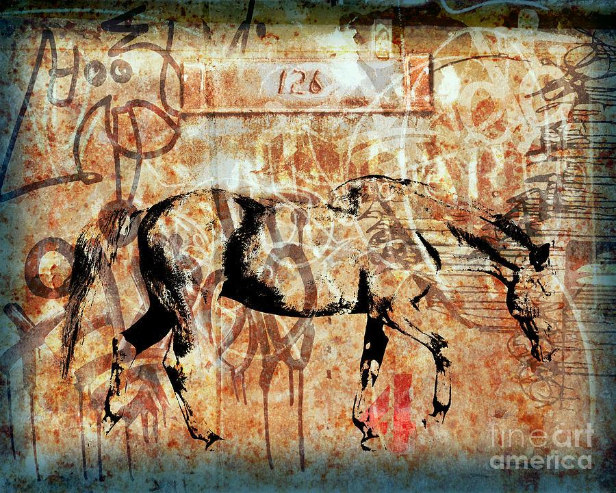 Horse Digital Art - Horse One Twenty Six by Judy Wood