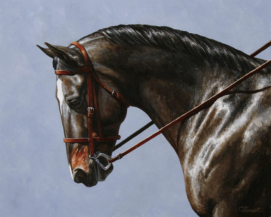Horse Painting - Horse Painting - Discipline by Crista Forest
