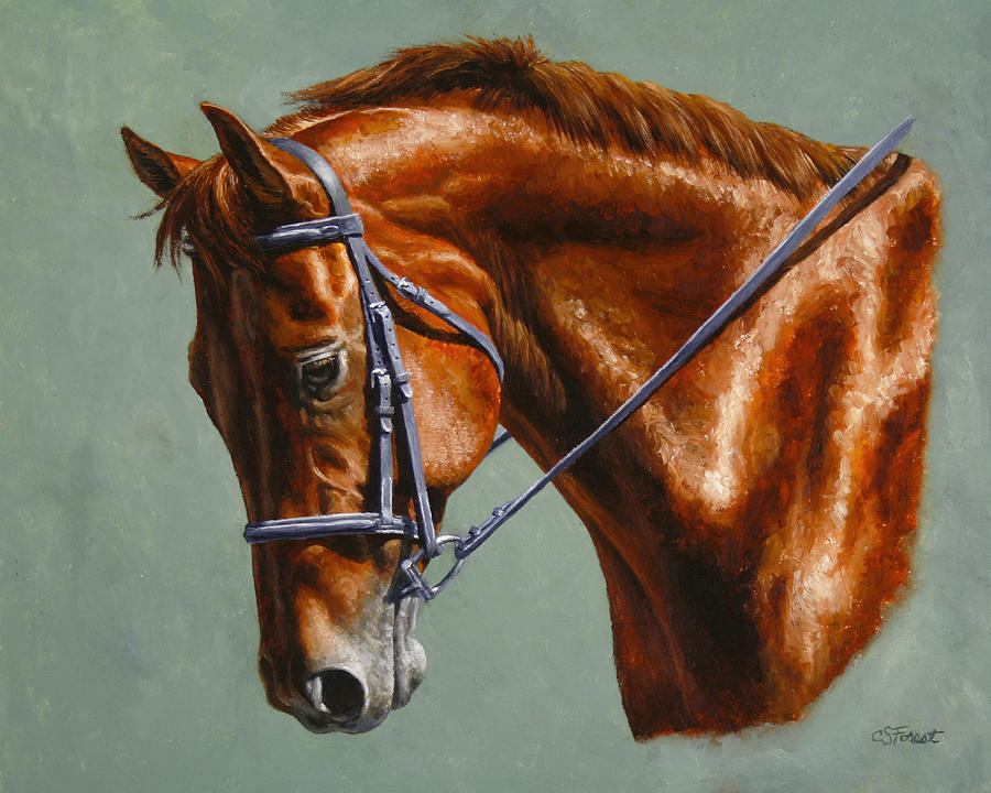 Horse Painting - Horse Painting - Focus by Crista Forest