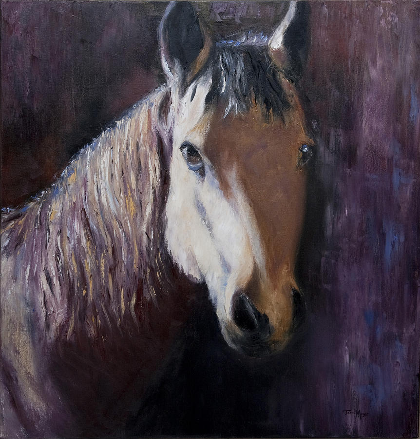 Horse Artwork Painting - Horse Painting by Terri  Meyer