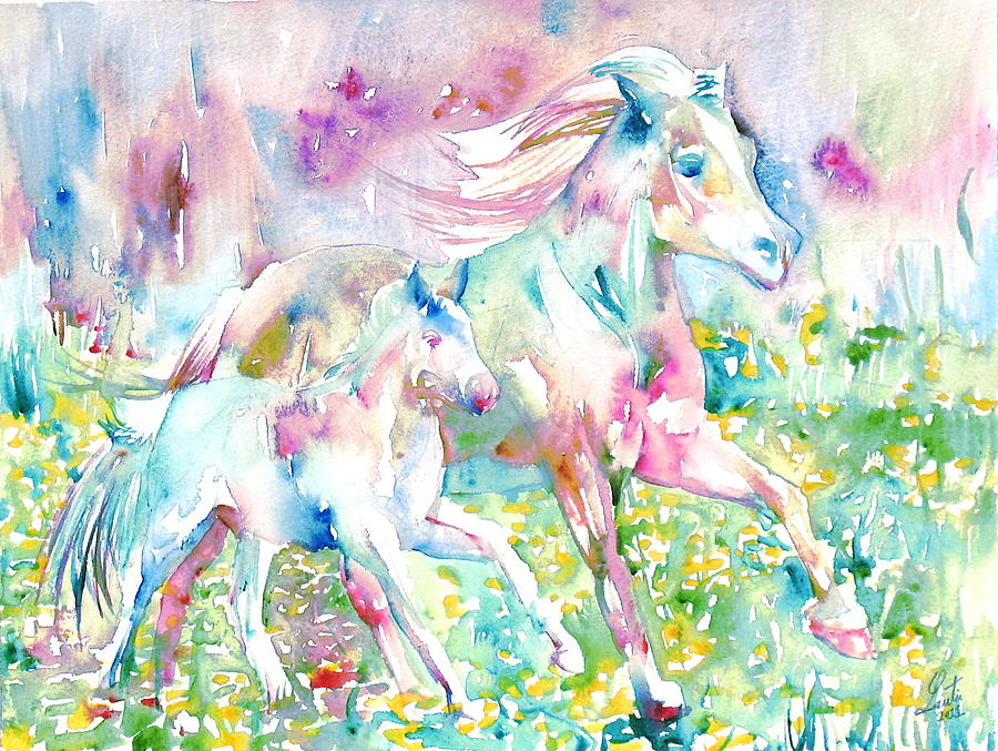 Horse Painting - Horse Painting.17 by Fabrizio Cassetta