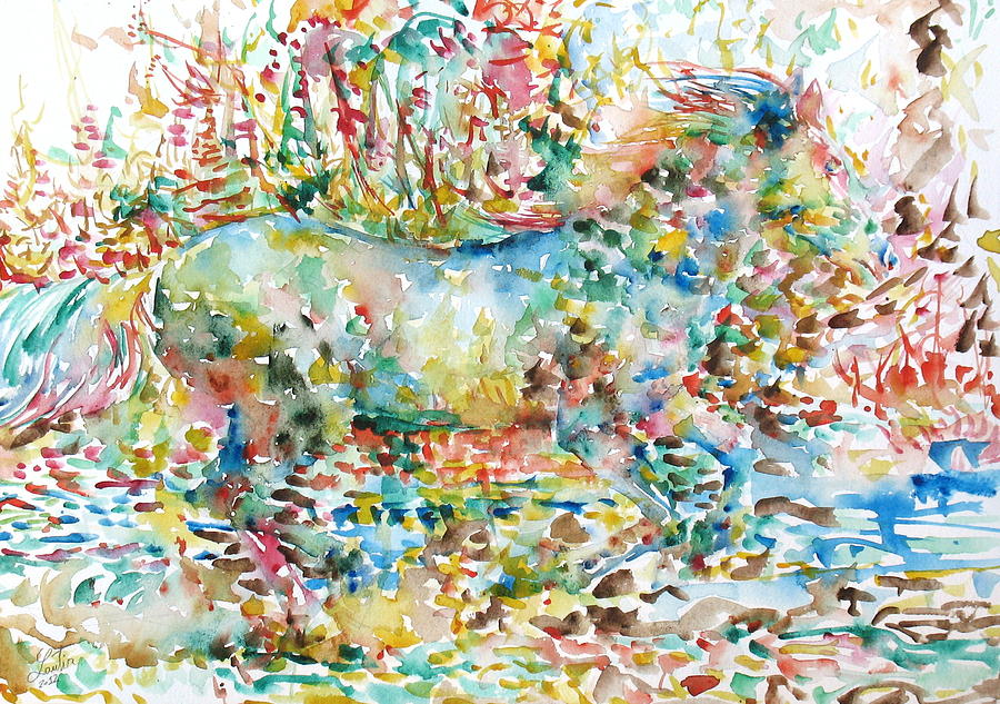 Horse Painting - Horse Painting.20 by Fabrizio Cassetta