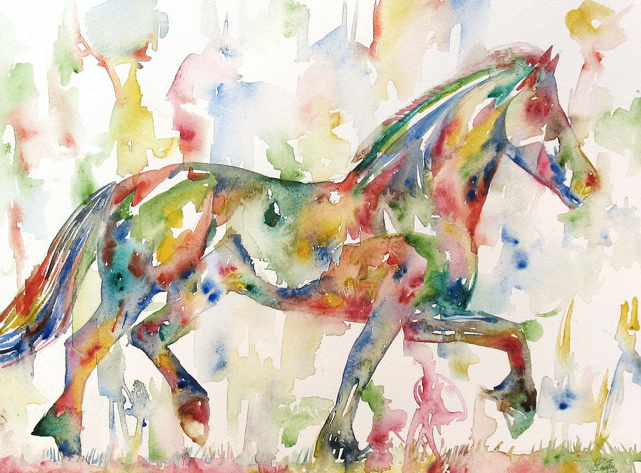 Horse Painting - Horse Painting.23 by Fabrizio Cassetta