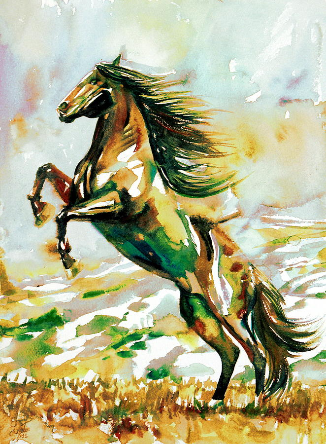 Horse Painting - Horse Painting.25 by Fabrizio Cassetta