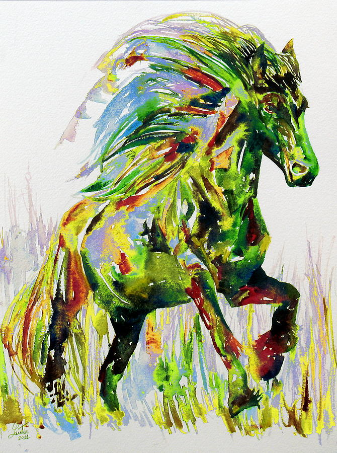 Horse Painting - Horse Painting.26 by Fabrizio Cassetta