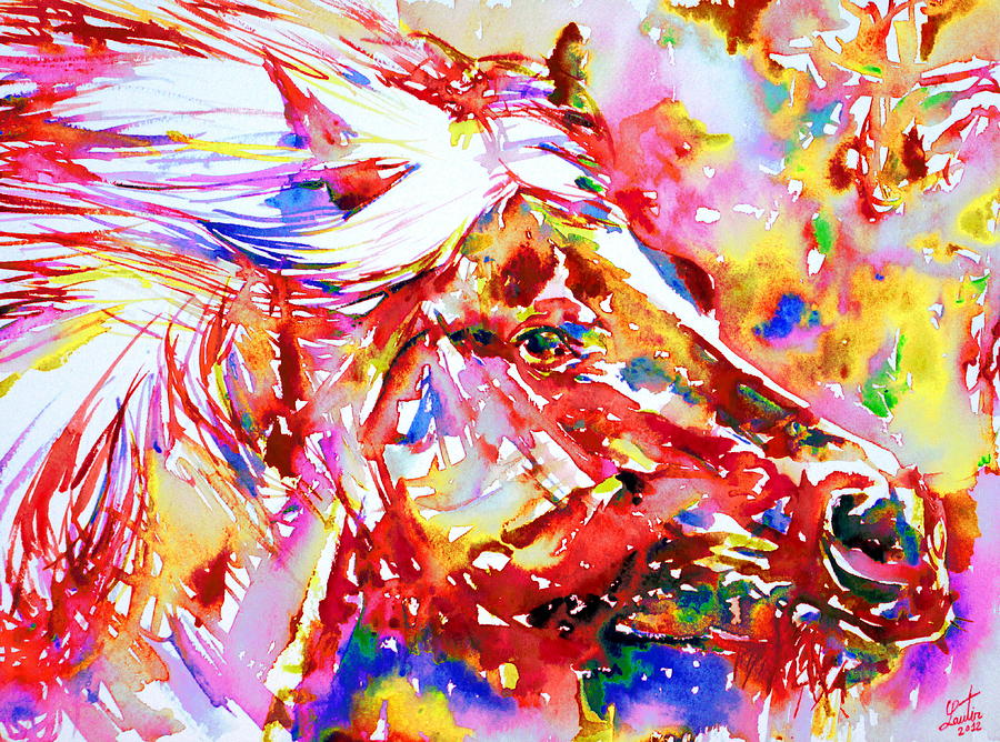 Horse Painting - Horse Painting.28 by Fabrizio Cassetta