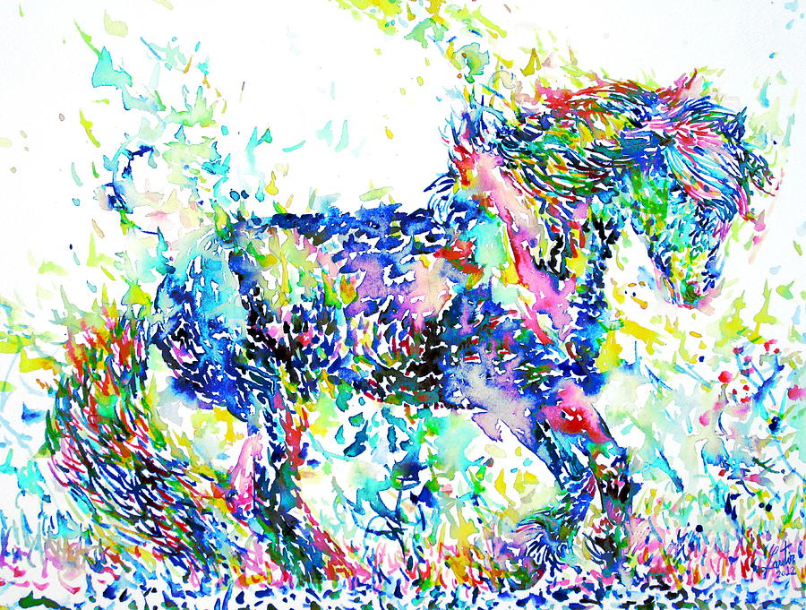Horse Painting - Horse Painting.33 by Fabrizio Cassetta