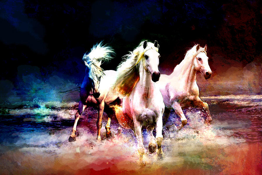 Horse Painting - Horse Paintings 002 by Catf