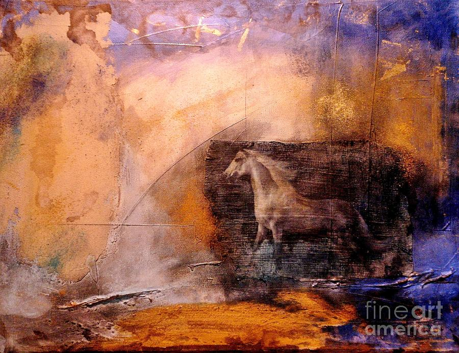 Horse Painting - Horse Power by Julia  Walsh