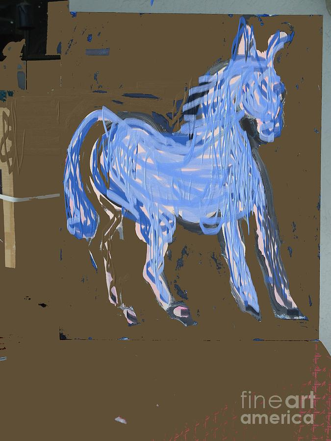 Blur Painting - Horse Revisited by Jay Manne-Crusoe