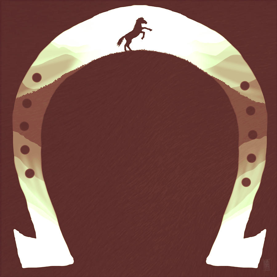 Horse Digital Art - Horse Shoe by Daniel Hapi