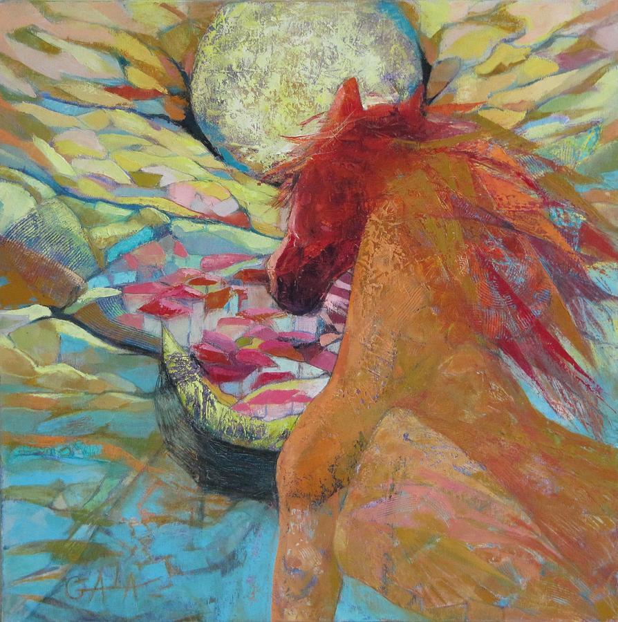 Horse Painting - New Day Rising by GALA Koleva