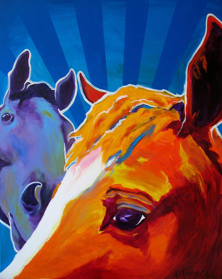 Horse Painting - Horse - We Come In Peace by Alicia VanNoy Call