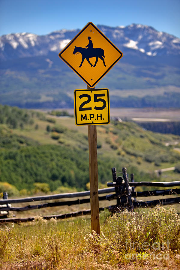 horseback riding sign photograph by jerry fornarotto