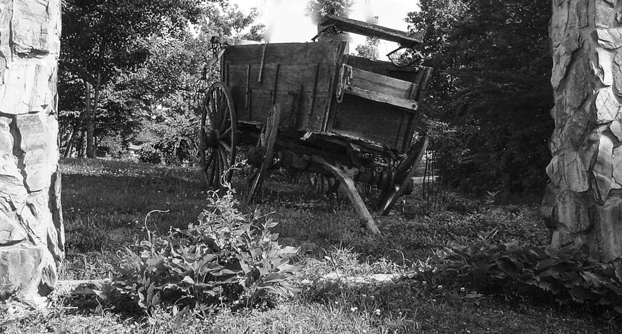 Wagon Photograph - Horseless Blk And Wht  by Robert J Andler