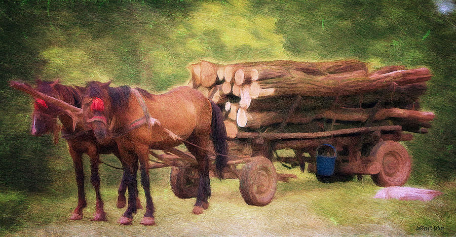 Animal Painting - Horsepower by Jeff Kolker