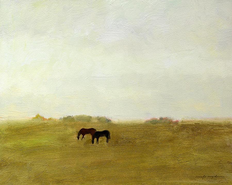 Horses Afield by J REIFSNYDER