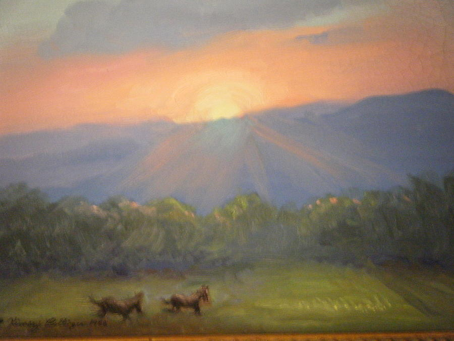 Horses Painting - Horses Running Free by Patricia Kimsey Bollinger