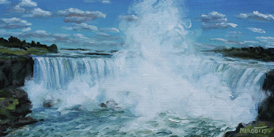 Niagara Falls Painting - Horseshoe Mist by Michael Marcotte