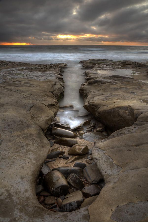 Clouds Photograph - Horseshoes Beach Tidepools by Peter Tellone