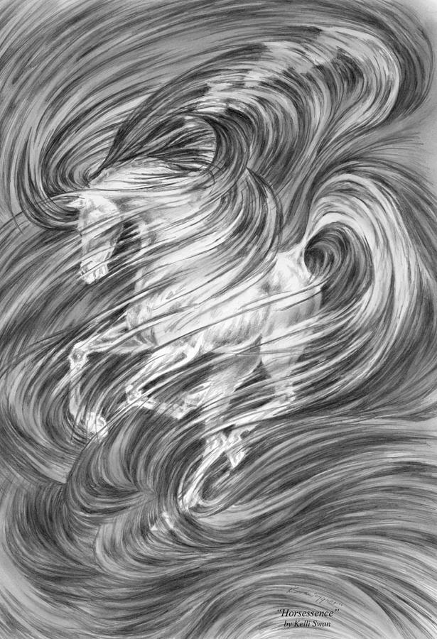 Horsessence - Fantasy Dream Horse Print by Kelli Swan
