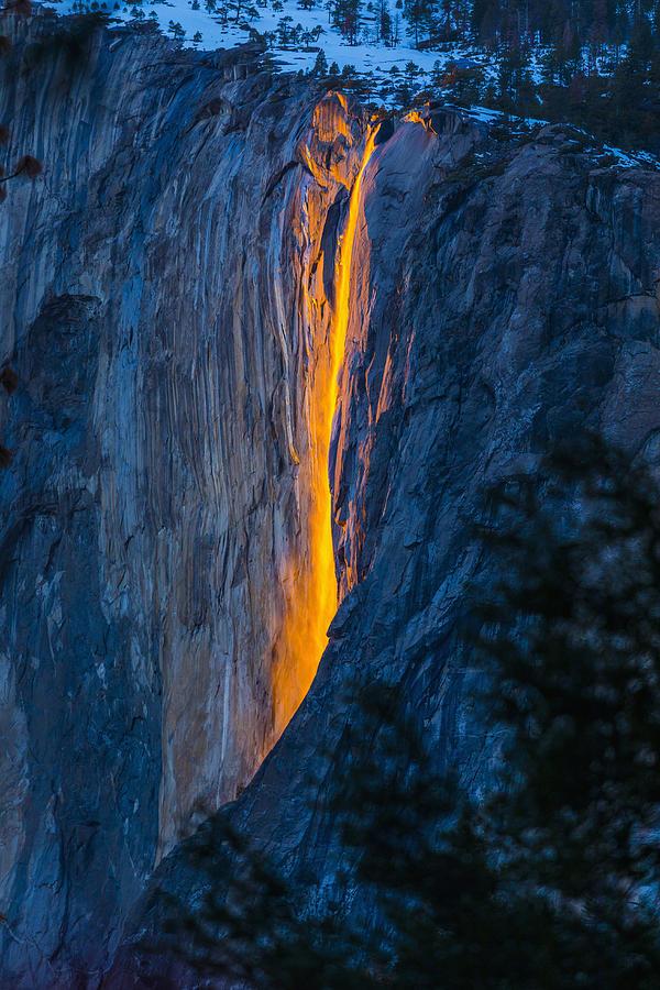 Horsetail Falls In Yosemite National Park, Yosemite, California, United States Photograph by Steve Smith