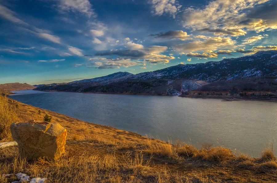 Horsetooth Reservoir Photograph - Horsetooth Reservoir Late Afternoon by Harry Strharsky